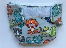 #1 BABY DOLL CLOTH DIAPER LOTS OF CATS FITS SOME BABY ALIVE
