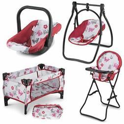 Litti Pritti 4 Piece Set Baby Doll Accessories - Includes Ba