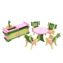SODIAL 1 set Baby Wooden Dollhouse Furniture Dolls House Min