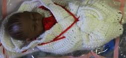 "10"" African American Baby Dolls Lifelike Sleeping Full Vinyl"