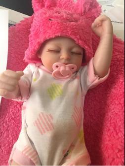 """10"""" Cute Reborn Baby Dolls Full Body Silicone Preemie Newbor"""