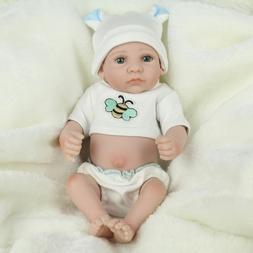10'' Reborn Baby Dolls Lifelike Newborn Full Vinyl Silicone