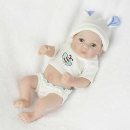 """10"""" Reborn Baby Dolls Realistic Cute Vinyl Silicone Newborn"""