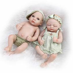 Reborn Preemie baby Twin Boy And Girl Dolls Silicone Lifelik