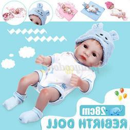 """11"""" 28cm Reborn Dolls Vinyl Silicone Baby Boy Realistic Newb"""