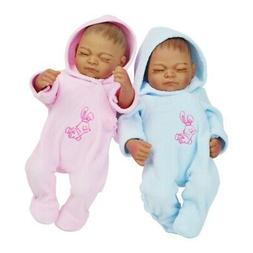 """11"""" African American Doll Twin Full Silicone Vinyl Newborn B"""