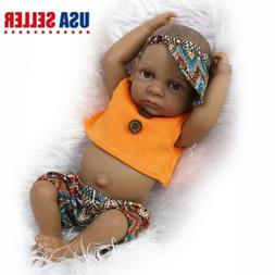 "11"" African American Reborn Baby Boy Doll Full Vinyl Newborn"