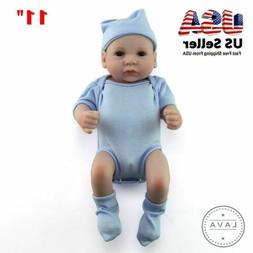 11'' Handmade Baby Dolls Lifelike Anatomically Correct Vinyl