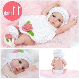 11 inch Lifelike Newborn Reborn Silicone Vinyl Baby Girl Dol