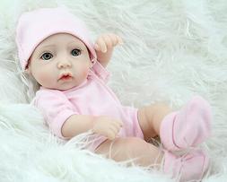 11'' Length Silica Gel Made Little Girl Doll Model for 1-3 Y