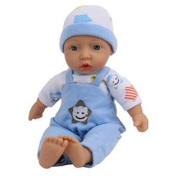 11'' Newborn Soft Cloth Baby Reborn Dolls Vinyl Silicone Toy