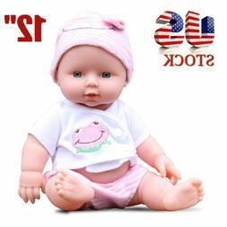 12'' Reborn Baby Dolls Lifelike Newborn Full Vinyl Silicone