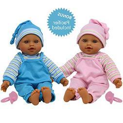 "The New York Doll Collection 12"" Sweet Hispanic Twin Dolls P"