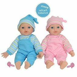 """The New York Doll Collection 12"""" Twins Baby Doll - Soft Body"""