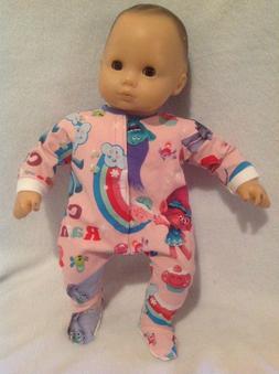 "15"" Bitty Baby Trolls Poppy Pink sleeper pajamas pjs twins D"