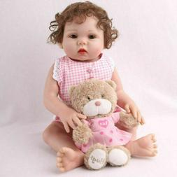 "16"" Full Body Reborn Baby Dolls Girl Soft Vinyl Handmade Rea"