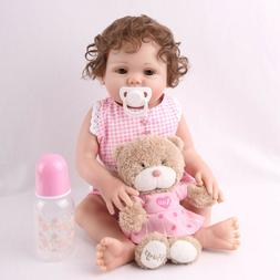 "16"" Full Body Silicone Reborn Baby Doll Anatomically Lifelik"