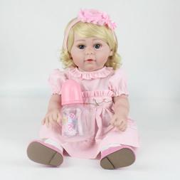 "16""Full Body Vinyl Silicone Reborn Dolls Washable Newborn Ba"