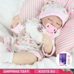 "16"" Realistic Handmade Reborn Baby Dolls Vinyl Silicone Slee"