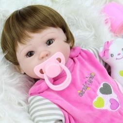 16'' Reborn Baby Dolls Handmade Lifelike Newborn Silicone Vi