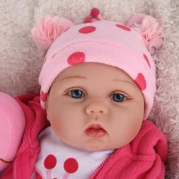 16'' Reborn Baby Dolls Lifelike Vinyl Silicone Newborn Girl
