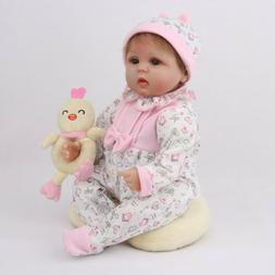 "16""Reborn Baby Dolls Newborn Lifelike Vinyl Silicone Toddler"