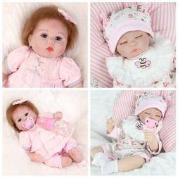 """16"""" Reborn Twins Girl Realistic Cute Newborn Baby Dolls Sili"""