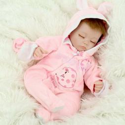 "16""Sleeping Newborn Vinyl Silicone Reborn Baby Doll Xmas Gif"