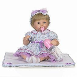 16'' Toddler Bebe Reborn Baby Girl Dolls Silicone Vinyl Newb