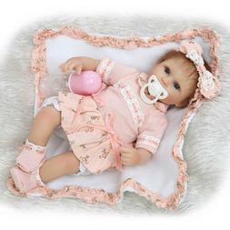 17''42CM Cute Reborn Baby Dolls Lifelike Soft Silicone Dolls