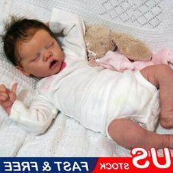 "17"" Reborn Baby Dolls Full Body Vinyl Silicone Girl Doll Rea"