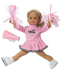 18 Inch Doll Cheerleader Clothes by Sophia's, Fits American