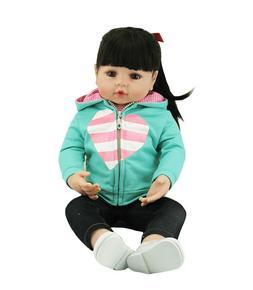 "22"" Doll Reborn Soft Touch Silicone Reborn Baby Dolls Vinyl"