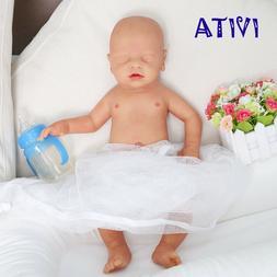 IVITA 18'' Full Body Soft Silicone Baby Eyes-closed BOY Life