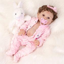 "18"" Full Body Soft Silicone Reborn Baby Dolls Lifelike Girl"
