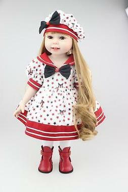 18 Inch American Dolls For Girls Fashion Reborn Baby Doll Ch