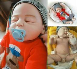18 inch Newborn Boy Bathable Full Body Reborn Baby Dolls Sil