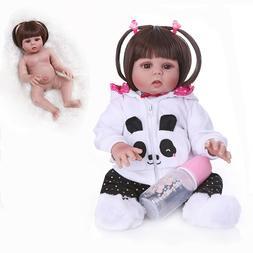"18"" Reborn Baby Dolls Full Body Silicone Vinyl Newborn Babie"