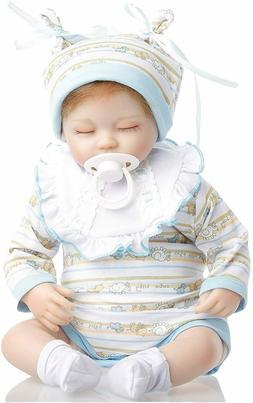"""18"""" Reborn Baby Dolls Soft Body Realistic Baby Boy Doll Sili"""