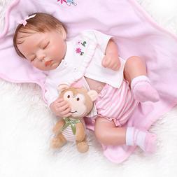"18"" Silicone Full Body Baby Reborn Dolls Cute Alive Sleeping"