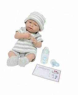 "JC Toys 18519 La Newborn Baby Play Dolls, 15"", Grey/White"