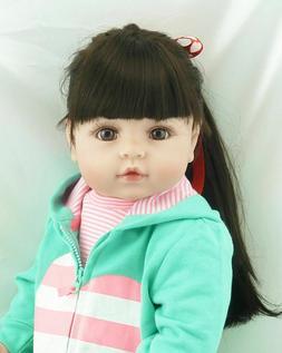 18inch Black Hair Newborn Reborn Preemie Realistic Baby Doll