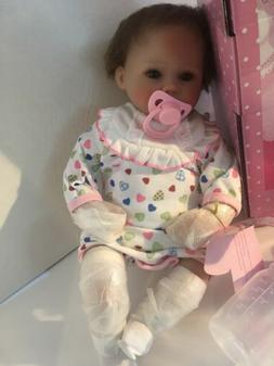 19'' Elane Reborn Baby Lifelike Soft Vinyl Real Life Gir