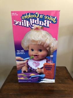1995 Baby Alive Doll Juice 'n Cookies NEW IN ORIGINAL BOX