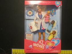1995 Career Collection Dr. Barbie with 3 Babies Pediatrician