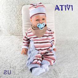 IVITA 20'' Full Body Silicone Reborn Baby GIRL Smile Dolls C