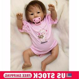 20'' Handmade Reborn Baby Dolls Lifelike Vinyl Silicone Girl