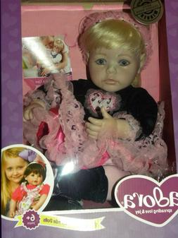 "Adora 20""Ready To Rock Toddler Doll Blonde hair Blue eyes vi"