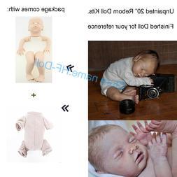 """20"""" Reborn Dolls Blank Kit Accessories Supplies Reborn Baby"""