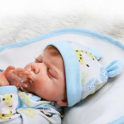 20'' Reborn Newborn Silicone Vinyl  Closed Eyes Baby Blue 49